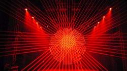 8 LED blanche de la tête 8 tête de faisceau de lumière laser rouge
