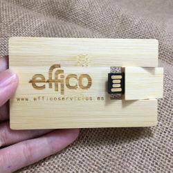 100PCS/Lot de vrije Stok van de Aandrijving 8g 16g 32g USB 2.0 van de Pen van de Aandrijving van de Flits van de Creditcard USB van Pendrive van de Hoge snelheid van het Embleem van de Douane Houten