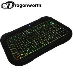 T18 Teclado remoto 2.4G de retroiluminación Touchpad Teclado Inalámbrico Mini T18 con teclado Qwerty inalámbrico Air Mouse compatible con el equipo de TV Box