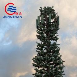 Galvanizado en caliente y revestimiento en polvo camuflado poligonal/Palm/Pino poste de acero de la torre
