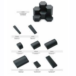 Madera negra de cuero de poliuretano mayorista de accesorios de lujo pequeño Personalizar la pantalla de joyería