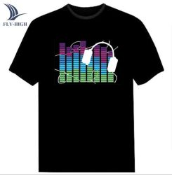 EL sonido intermitente personalizado activado Mostrar Camiseta LED Lighting Wholesale