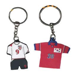 Maillot de football en caoutchouc PVC trousseau pour cadeau promotionnel