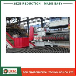 セリウムの大きいサイズPP PVC PE PSの管のプロフィールのプラスチックリサイクルの粉砕機のシュレッダー
