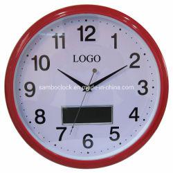 顧客用円形の赤いアラビアデジタル柱時計
