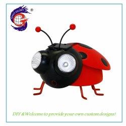 실내 홈 장식을 위한 우아한 곤충 Ladybug LED 태양광선