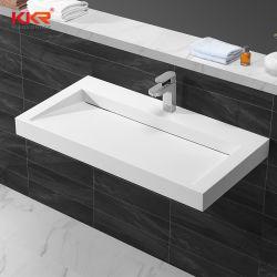 浴室の家具のアクリルの固体表面の人工的な石造りの洗面器の壁に取り付けられた浴室の虚栄心