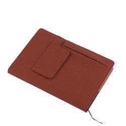 前部ポケットが付いているA4 A5の文房具のノートのハードカバーPUの革日記