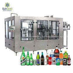 Automatischer Saft kohlensäurehaltige Getränk-Aluminiumblechdose, die Maschine Mineraltrinkwasser-Abfüllanlage Plastikflaschen-Füllmaschine bildet