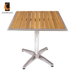 Экологически чистые материалы ресторан старинными деревянными кофейными алюминия обеденный стол (DT-06270S2)