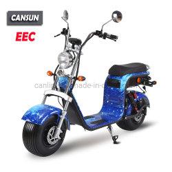 elektrische Autoped 1500W EEC/Coc met Vette Wielen
