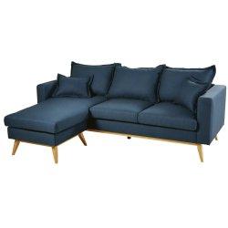 Gewebe-moderne Freizeit-Schnitthaupthotel-Büro-Möbel-Wohnzimmer-Schlafzimmer-Ecken-Sofa mit dem hölzernen Bein
