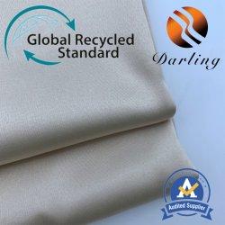 50d mate satén Stretch Fabric de reciclaje de textiles para el desgaste de la mujer.