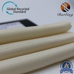 50d&75D polyester Spandex Stretch satin brillant pour vêtement RPET recycler