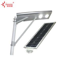 Beste intelligente hohe Leistung alle des Verkaufs-30W 60W 80W 100W 120W LED in einem integrierten Solarlampen-Straßenlaternemit hellem Fühler und Bewegungs-Fühler