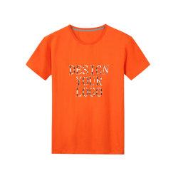 La plaine de coton à manches courtes occasionnel lourd imprimantes T-Shirts de gros pour les hommes
