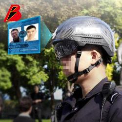 Kcwearable Infrarot Polizei Sicherheit Smart Ai Helm Berührungslose Temp Inspetion Kugelsicherer Helm