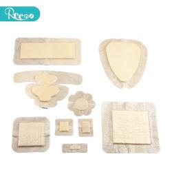 Topo marcação Alto estéril absorvente médicos descartáveis cirúrgico curativo de espuma de silicone para aliviar a dor