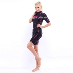 Women's Shorty néoprène Combinaison de surf avec les deux côtés en nylon (HX-L0454)