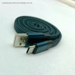 Tipo-c di nylon di carico trasporto basso degli accessori del cavo del caricatore del cellulare del nero del telefono mobile del cavo velocemente del cavo del USB di illuminazione