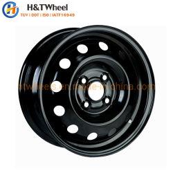 H&T 454203 колес 14 дюйма 14x5.5 4X100 Серебристый или Черный хороший осевое биение рабочей поверхности стальной колесный диск