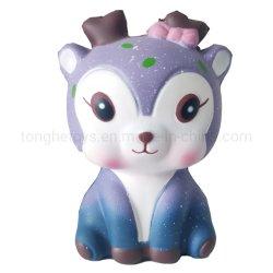 PU 짜기 장난감 느린 일어나는 Squishies Sika 사슴 질퍽한 장난감