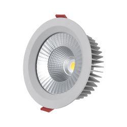 50000 heures la durée de vie Downlight Led 10W/15W/20W/25W/30W/40W/50W et antireflet lampe LED pour panneau de triac 0-10V et de Dali lumière LED pour panneau de gradation 2700K-5000K vers le bas de la lampe à LED