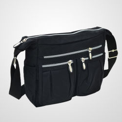 Pequeña piscina distribuidor material reflectante de color negro resistente al agua a las mujeres hombro Bolso Casual bicicleta viajes Bolsa de mensajero en bicicleta deporte Accesorios de viaje