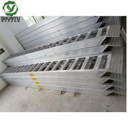 Geeignet für Gummispur-Maschinen-Laden-Aluminiumstrichleiter-Rampen