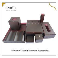 Nuevo y moderno cuarto de baño de lujo de acrílico negro mate de juego de cuarto de baño Jabonera Set de accesorios de baño Jabón producto