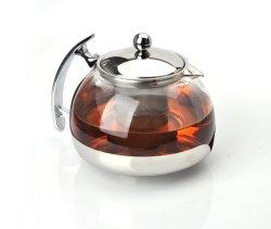 POT del tè dell'acqua della teiera di vetro di coperchio dell'acciaio inossidabile con il filtro