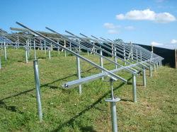 서포트 디자인 Galvanized Steel Solar Rail Bracket Solar Panel Ground 마운팅 스터처