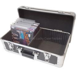 黒いアルミニウム飛行CD/DVD箱は110 Dvdsを遅らせる