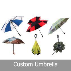 27인치 유리섬유 직선형 맞춤형 골프 우산 프로모션 우산 UV 코팅 로고 프린트를 사용합니다
