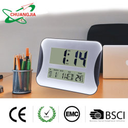 Orologio di giorno dell'allarme del calendario murale dello scrittorio & di Digitahi della fabbrica con la temperatura