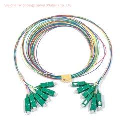 12 cores G657A2 Fibra Ótica chicotes OEM ODM/sc-APC, Lcupc