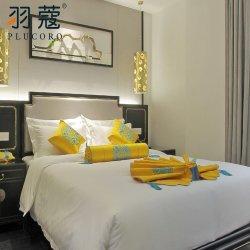 Bett-Blatt-Leinen-Set heißes des Verkaufs-weiches Stern-Hotel-hochwertiges König-Size White Bedding