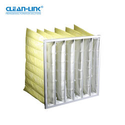 فلتر هواء الجيب الفلتر الألياف الصناعية لمكيف الهواء نظام التدفئة والتهوية وتكييف الهواء (H