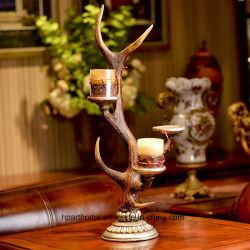 Cadeau de Noël de style Vintage Polyresin bougeoir avec base de bougie