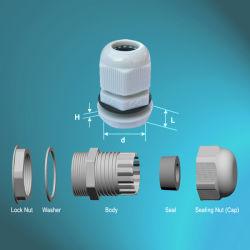 中国の工場ロックナットが付いている防水ナイロンケーブル腺