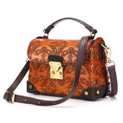 Heißer verkaufender gute Qualitätskuh-Leder-Frauen-Handtaschen-Form-Art-Dame-Fonds