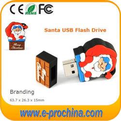 Presente de Natal Santa Claus forma uma unidade flash USB