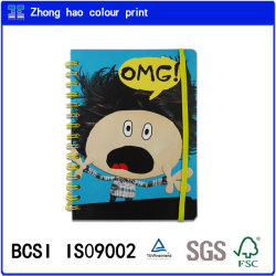 Yello Elastic (150527004)のA5ワイヤーO BookかOmg Cover Spiral Binding Notebook
