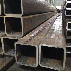 Q195, Q215, Q235, Q345 caissons soudés à paroi mince tuyau pré carré en acier galvanisé