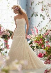 Seule hors fonction-Épaule A - ligne robe de robe nuptiale de lacet de mariage
