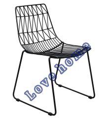 حديثة مطعم أثاث لازم معدنة يتعشّى قابل للتراكم خضوع جانب سلك كرسي تثبيت