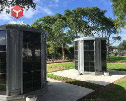 Columbarium grigio di esagono del granito dei 72 posti adatti per il cimitero