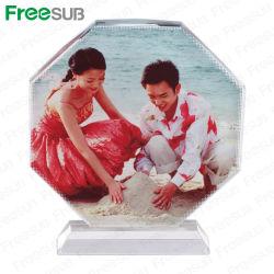 Freesub 8각형 스크린 블랭크 승화 크리스탈(BSJ26C)