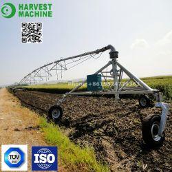 Fazenda de três rodas reboque sistema de irrigação para agricultura