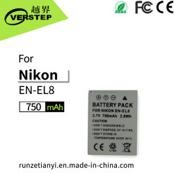 Neue Decodierungs-Digitalkamera-Batterie für Nikon En-EL8 Lithium-nachladbare Batterie